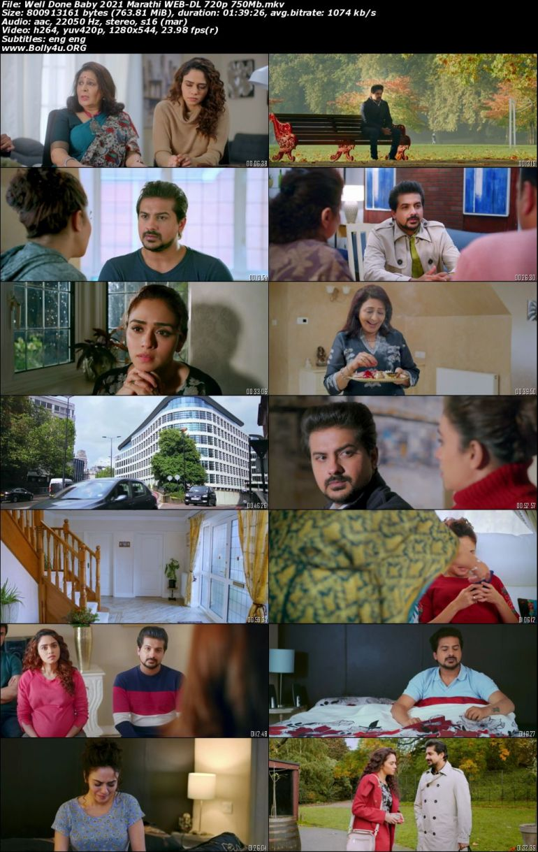 Well Done Baby 2021 WEB-DL 750MB Marathi 720p Download