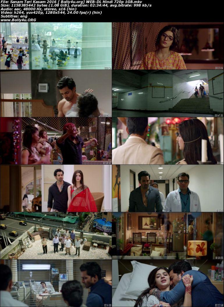 Sanam Teri Kasam 2016 WEB-DL 950Mb Hindi Movie Download 720p