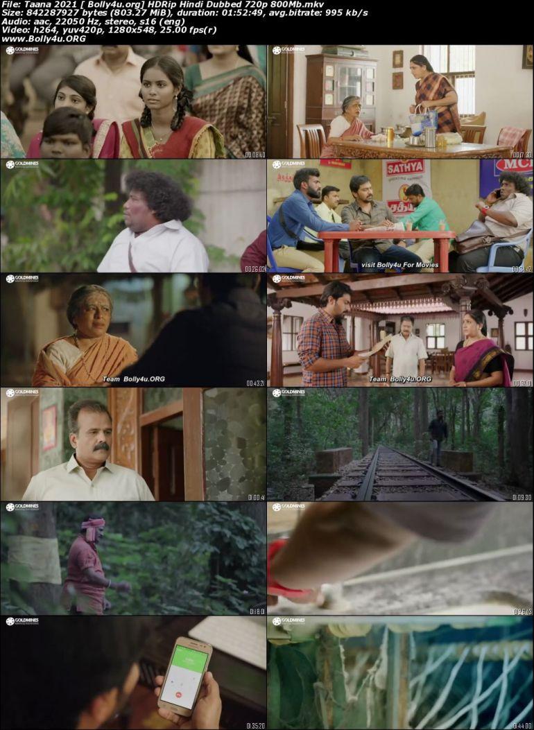 Taana 2021 HDRip 350Mb Hindi Dubbed 480p Download
