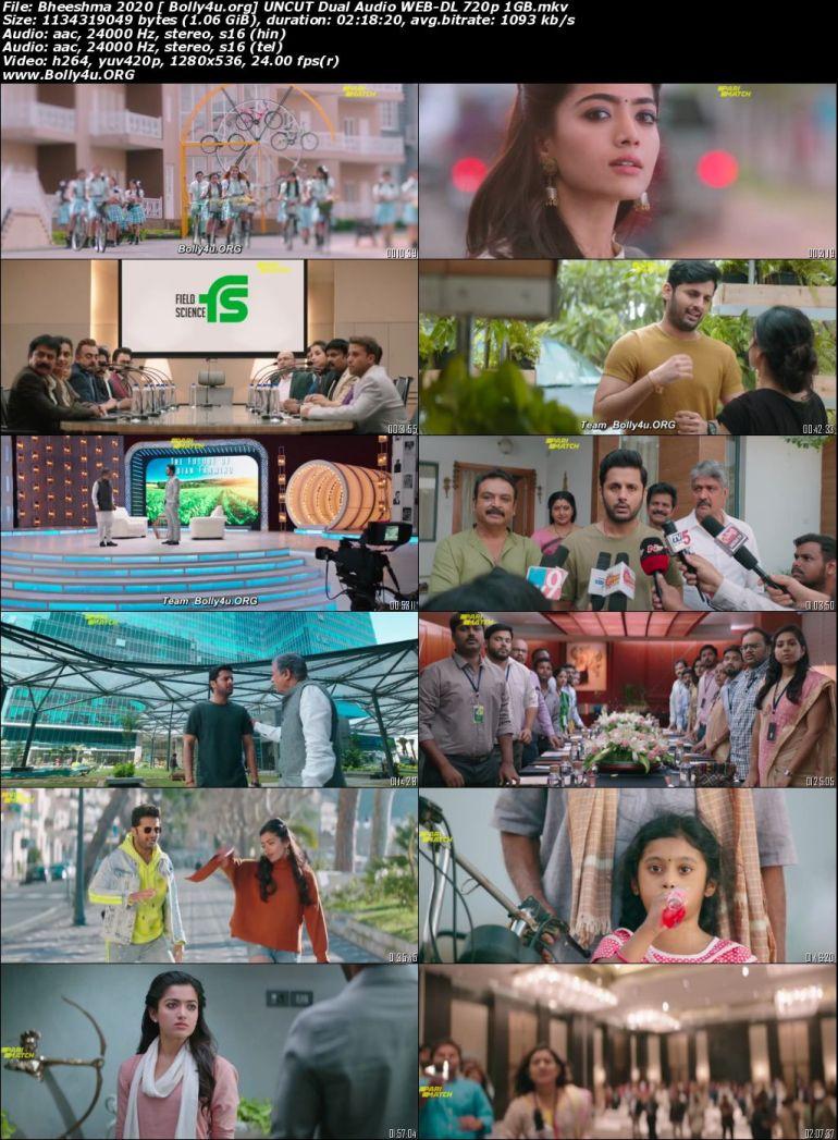 Bheeshma 2020 WEB-DL 1Gb Hindi HQ Dual Audio 720p Download