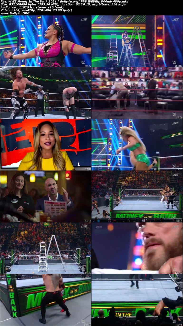 WWE Money In The Bank 2021 PPV WEBRip 800mb 480p Download