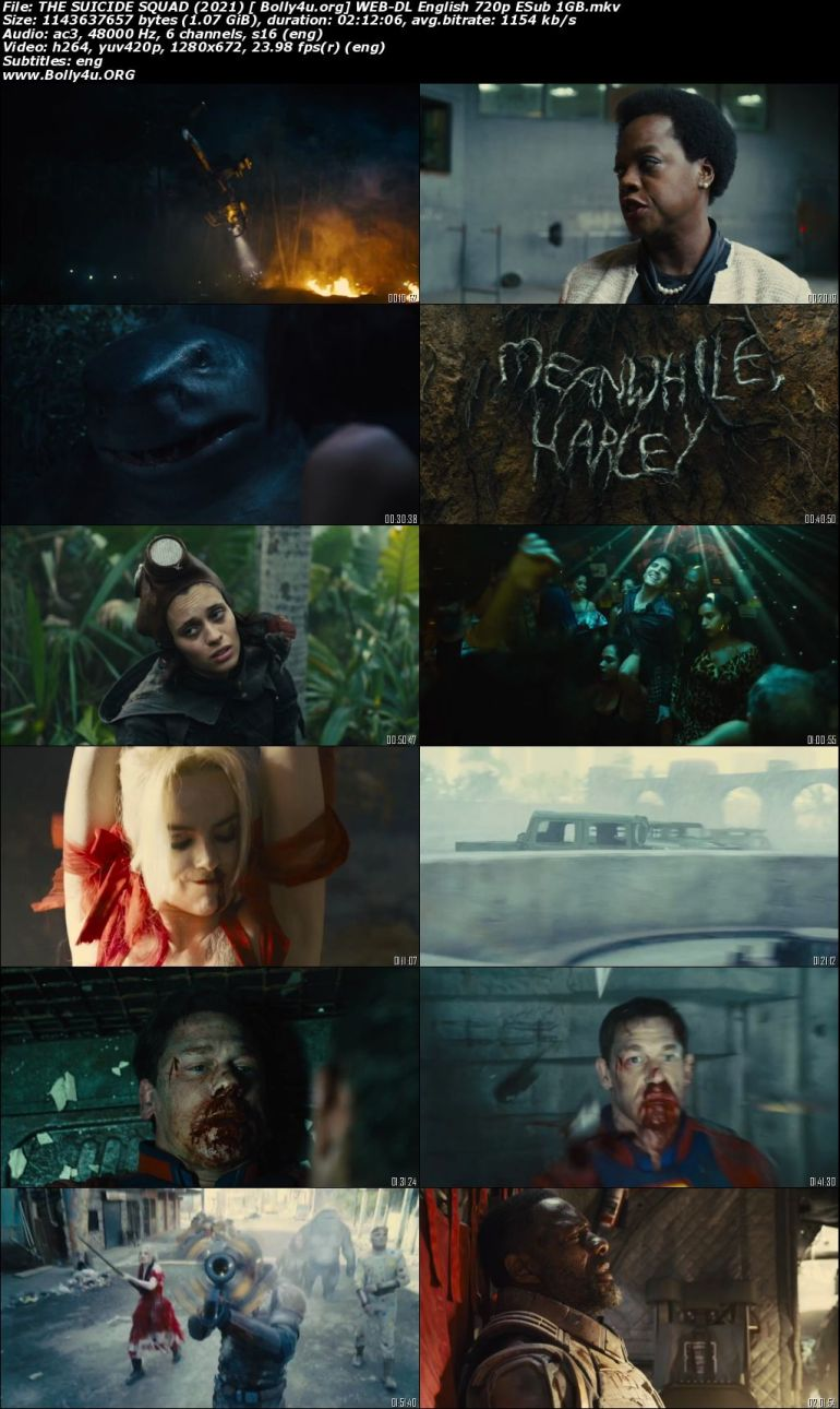 The Suicide Squad 2021 WEB-DL 400MB English 480p ESubs Download
