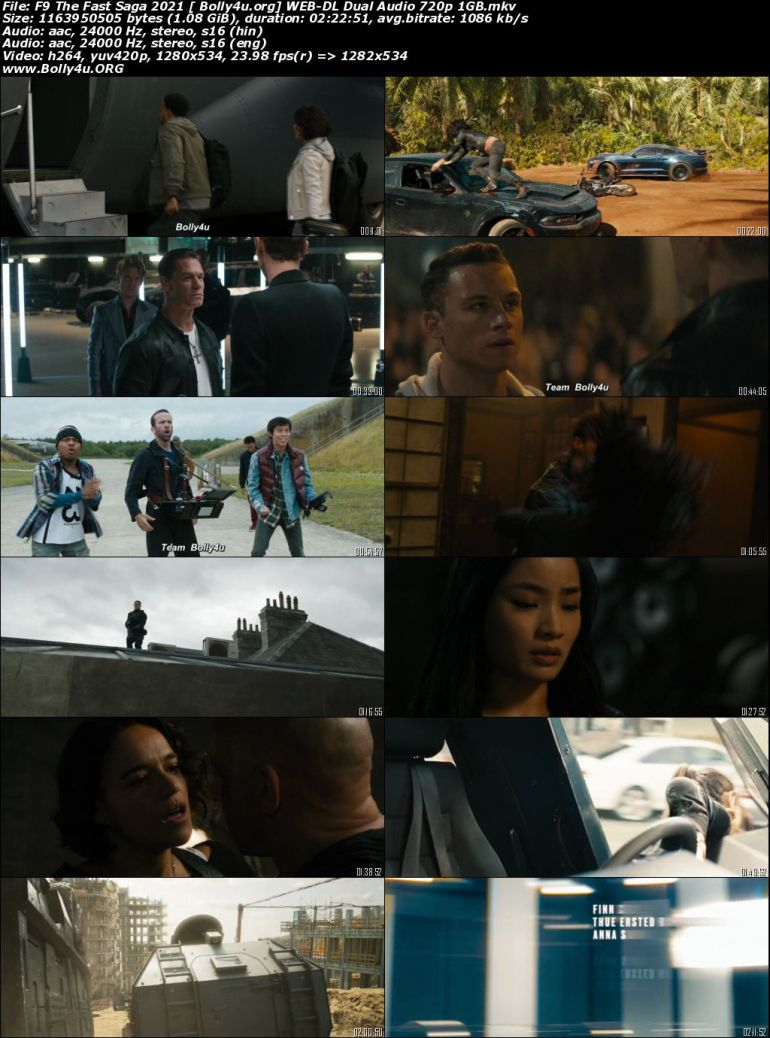 Fast and Furious 9 2021 WEB-DL 1GB Hindi CAM Cleaned Dual Audio 720p Download
