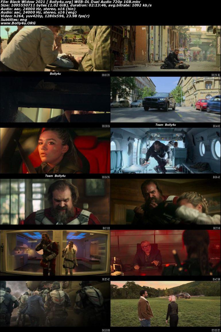 Black Widow 2021 WEB-DL 400MB Hindi Dual Audio ORG 480p Download