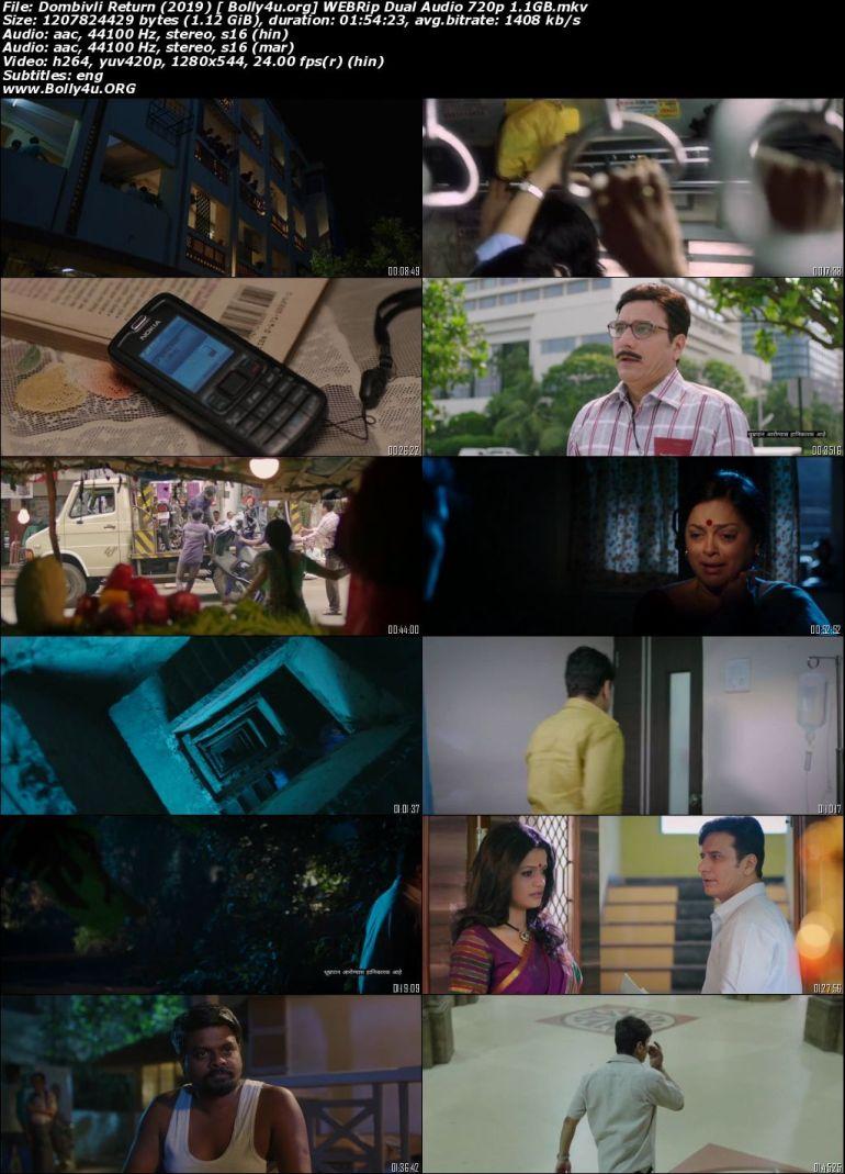 Dombivli Return 2019 WEBRip 400MB Hindi Dual Audio 480p Download