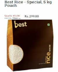 Bigbasket Best Rice Offer
