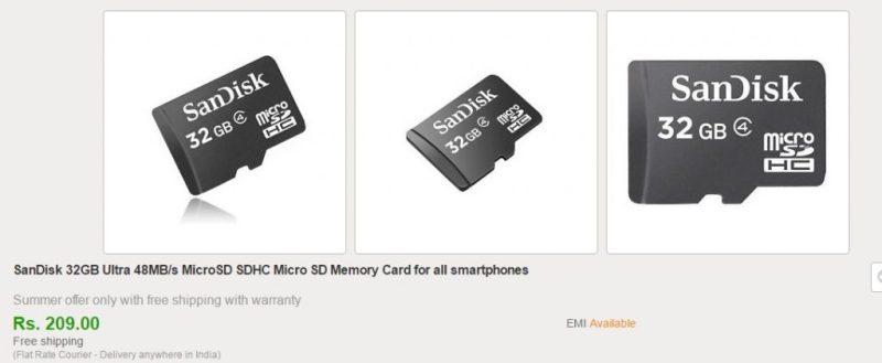 Ebay Sandisk Memory Card