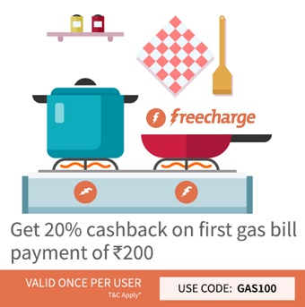 Freecharge Gas Bill Payment Coupon