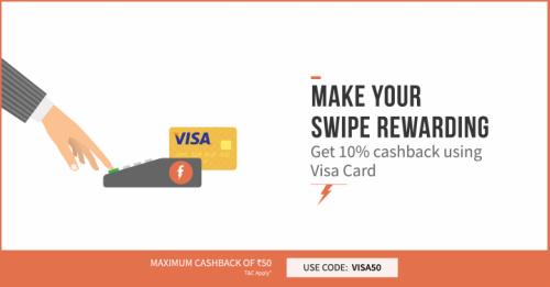 Freecharge Visa Card Offer || Get 10% Cashback On Bill