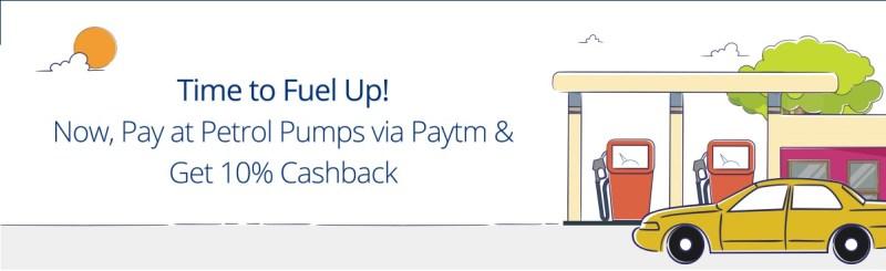 Paytm Petrol Pump Cashback