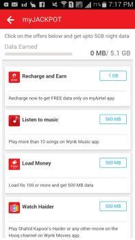 Airtel 5GB Free Jackpot Offer