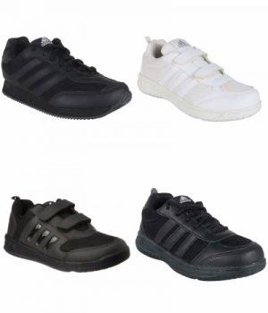 adidas school shoes black kids