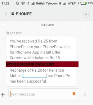 PHONEPE App Recharge