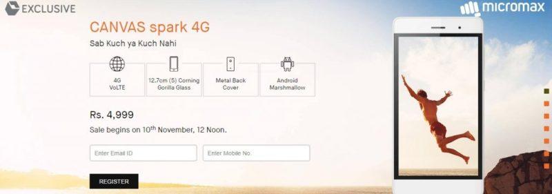 Micromax SPARK 4G