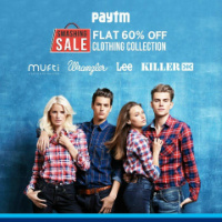 Paytm Smashing Sale : Get Flat 60% Off On Branded Clothing Starts @ 209.