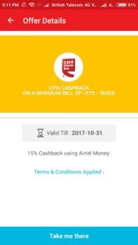 Airtel Prepaid & Postpaid Bill Payment Offer