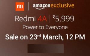 Redmi 4A Prime Amazon