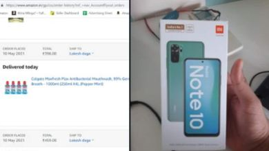 Photo of Ordered Rs 400 mouthwash from Amazon, got 12 thousand Redmi Note 10 smartphone in return