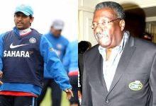 Photo of Clive Lloyd and Dhoni near Virat and Williamson
