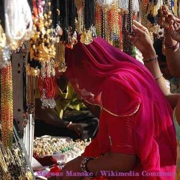 De Mercadillo en Vieja Delhi Chandni Chowk