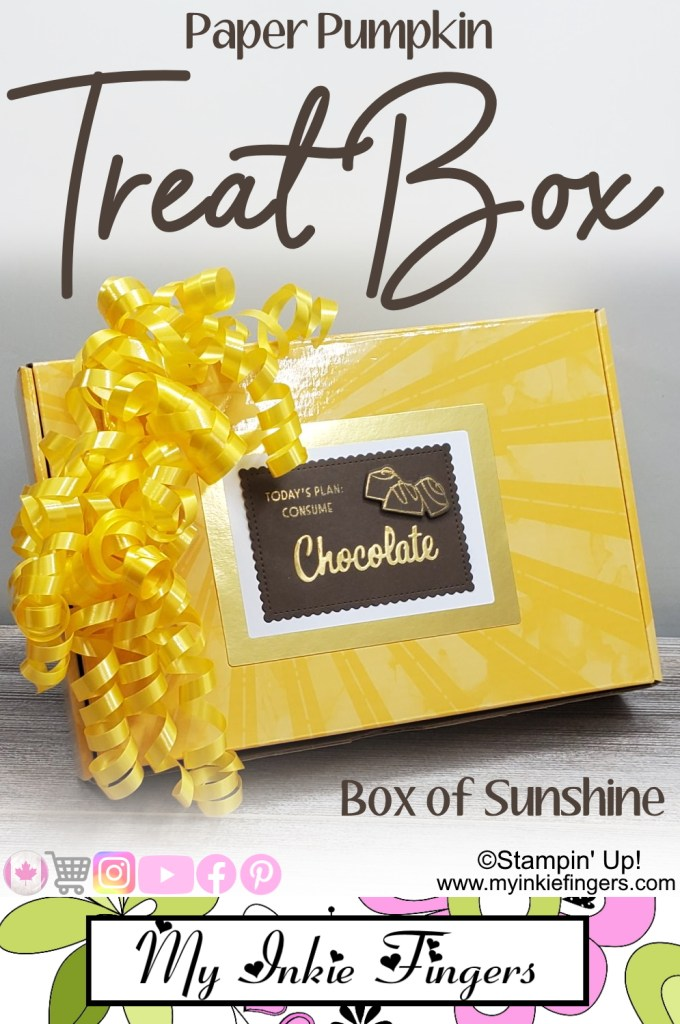 June 2020 Paper Pumpkin Alternative - Box Of Sunshine - Treat box