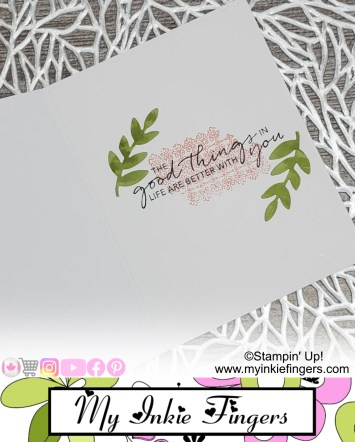 Create your own backgrounds for cards Stampin Up