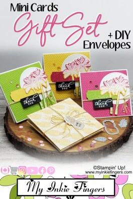DIY Handmade MINI NOTE CARDS | CARDS GIFT SET with ENVELOPES | DIY Envelopes | Stampin' Up! 2020