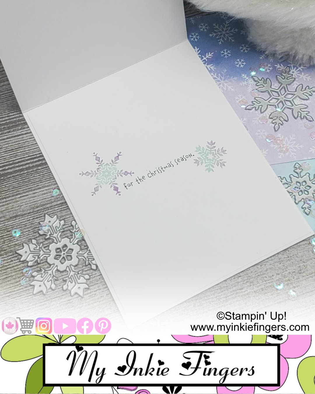 Die Cutting Hack for Card Making - Snowflake Die Cut Trick - Gnome for the Holidays Stampin' Up!