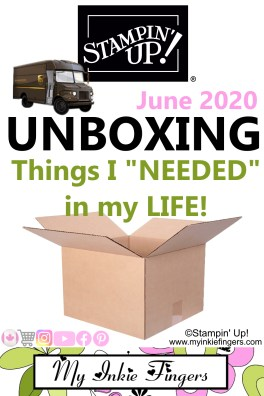 Stampin' Up! Unboxing Haul Video June 2020 PN