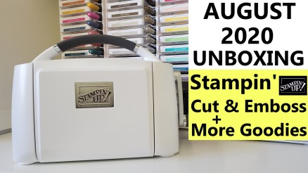Stampin Cut & Emboss Machine Unboxing August 2020 | Stampin Up 2020 Mini Catalog HAUL