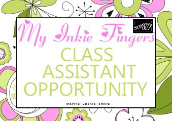 My Inkie Fingers Class Assistant Opportunity