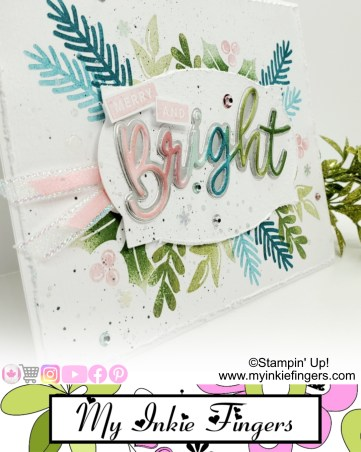 Pink and Blue Christmas Card | Stampin Up Christmas Card 2020