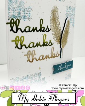 Stampin Up Thank You Card - Die Cut Pop Ups - Layered 3D Die Cuts