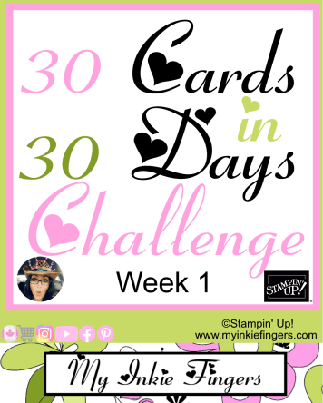 30 Cards in 30 Days Stampin Up My Inkie Fingers