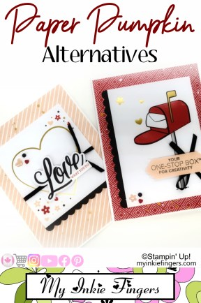 Paper Pumpkin Alternative & Stampin Up Business Demo Team Cards