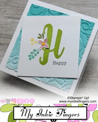 My Inkie Fingers 30 Cards in 30 Days Day 10 - The Letter H