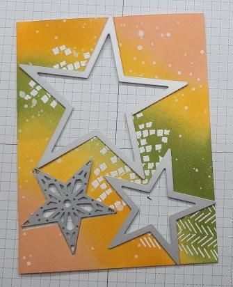 Stitched Stars Dies Placement