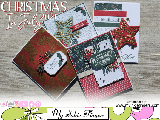 Christmas In July Stampin Up Live Online Class Tidings of Christmas Class