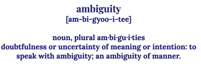definition of ambiguity as a picture