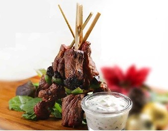 Grilled Beef Kebab and Prune with Greek Style Yogurt | Farmers Union