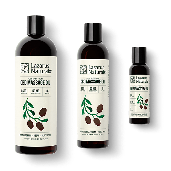 Lazarus Naturals CBD-Massage-Oil-Family