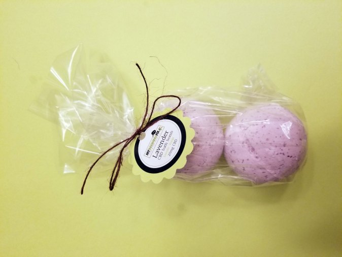 CBD Bath Bomb - Lavender and Orange Essential Oils