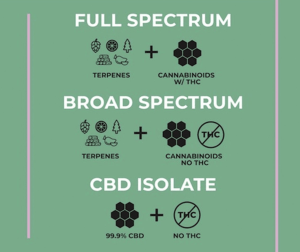 Full spectrum CBD and Isolated CBD
