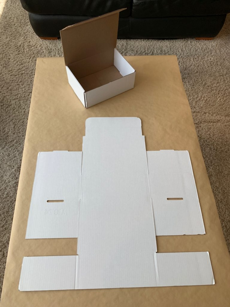 White box for care package