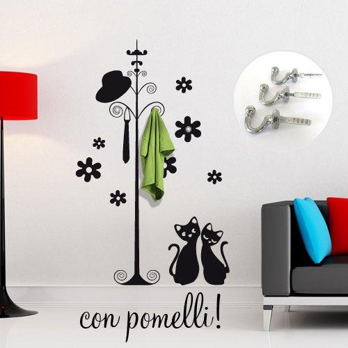 Personalizza le stanze della tua casa. Amazon Adesivo Murale Wall Art Appendiabiti Con Gatti Misure 113x180 Cm Decorazione Parete Adesivi Per Muro 29 90 Architettura E Design A Roma