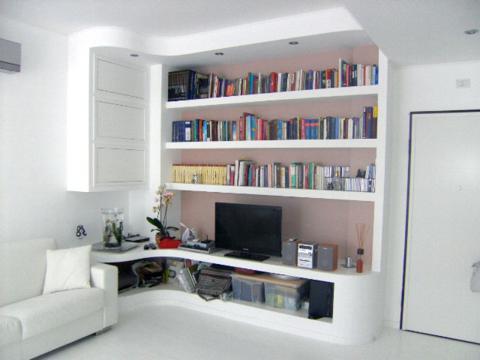 Soluzioni per il soggiorno tradizionale o moderno. Arredare Con La Muratura Ed Il Cartongesso Per Progetti Su Misura Architettura E Design A Roma