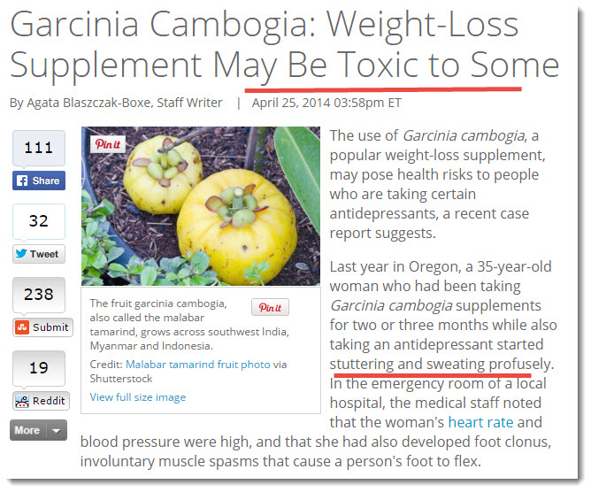 Adverse Effects Garcinia Cambogia