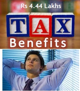 Income tax benefits Rs 4.44 Lakhs