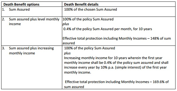 Maxlife Term Insurance plan options