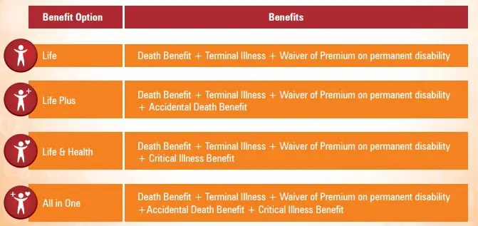 Benefit options-ICICI Pru iProtect Smart